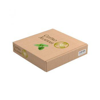 Hierbas secas en caja